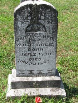 Martha J. <I>Cole</I> Hyde