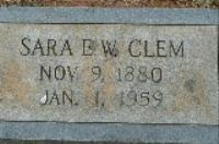 "Mrs Sara E. ""Sallie"" <I>Weaghington</I> Clem"