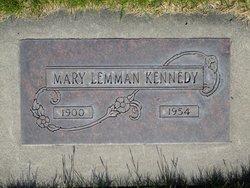 Mary <I>Lemman</I> Kennedy