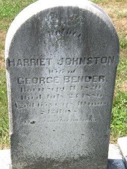 Harriet <I>Johnston</I> Bender