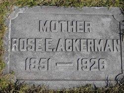 Rose Ellen <I>Forsythe</I> Ackerman