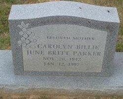 Carolyn Billie June <I>Britt</I> Parker