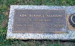 Ada Bernice <I>Johnson</I> Allison