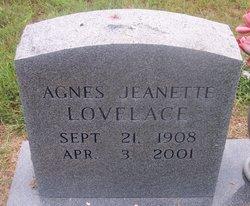 Agnes Jeanette <I>Winters</I> Lovelace