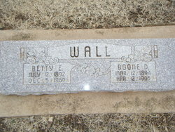 """Rebecca Elizabeth """"Bette"""" <I>Cater</I> Wall"""