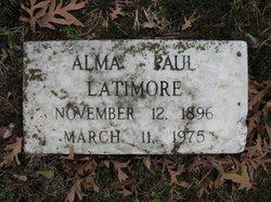 Alma <I>Paul</I> Latimore