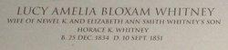 Lucy Amelia <I>Bloxum</I> Whitney