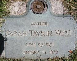 Sarah Ann <I>Taysum</I> Wiest