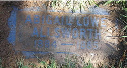 "Abigail ""Abby"" <I>Lowe</I> Allsworth"