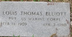 Pvt Louis Thomas Elliott