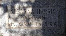 Susanna <I>Harris</I> Hartman