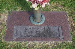 Bertha Mae <I>Watson</I> Athey