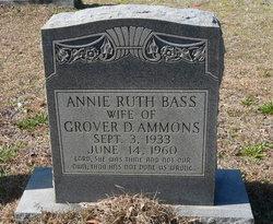Annie Ruth <I>Bass</I> Ammons