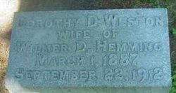Dorothy Deane <I>Weston</I> Hemming