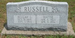 "Harriett Jane ""Hattie"" <I>Crow</I> Russell"