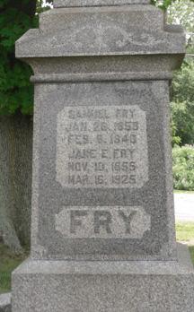 Jane Elizabeth <I>Gerberich</I> Fry
