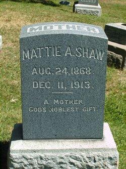 Mattie A Shaw