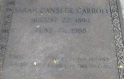 Sarah <I>Cansler</I> Carroll