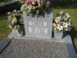 Jane <I>Fuller</I> Cheek