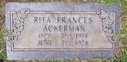 Rita Frances <I>Schneider</I> Ackerman