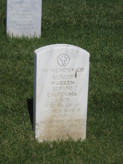 Sgt Robert Warren Bevans