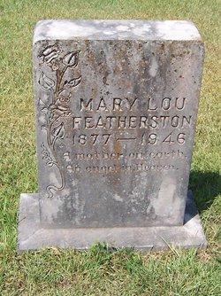 """Mary Lou """"Ludie"""" <I>Abbott</I> Featherston"""