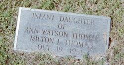 Infant Daughter Thomas