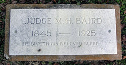 "Madison Hiram ""Judge"" Baird"