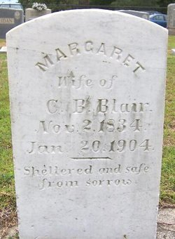 Margaret <I>Blair</I> Blair