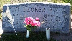 Bertha G. <I>Perry</I> Decker