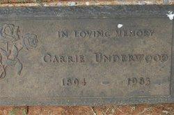 Carrie <I>Owens</I> Underwood