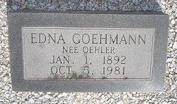 Edna <I>Oehler</I> Goehmann