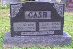 Jane Ellen <I>Munn</I> Cash