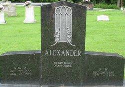Margaret Ada <I>Mastin</I> Alexander