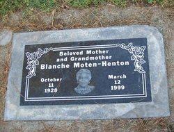 Blanche <I>Moten</I> Henton