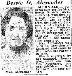 Bessie <I>Osborn</I> Alexander