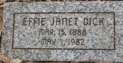 Effie Janet Dick