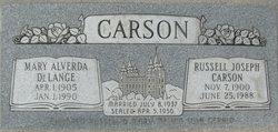 Mary Alverda <I>Delange</I> Carson