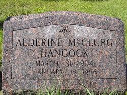 Alderine <I>McClurg</I> Hancock