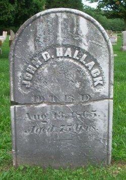 John D Hallack