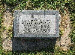 Mary Ann <I>Ragan</I> Barnes