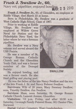 Frank J Swallow, Jr
