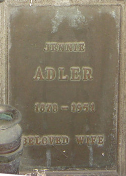 Jennie Adler (1878-1951) - Find A Grave Memorial