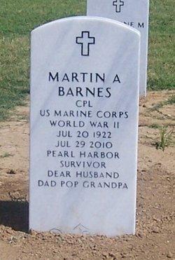 Corp Martin A. Barnes