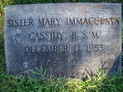 Mary Immaculata Cassidy