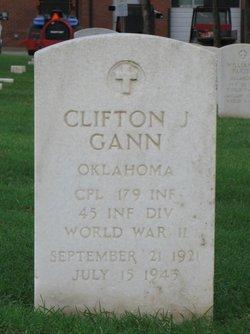 CPL Clifton J Gann