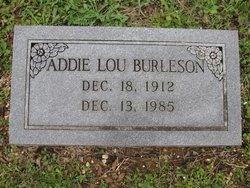 Addie Lou <I>Carter</I> Burleson