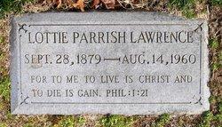 Lottie <I>Parrish</I> Lawrence