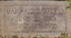 Mary Alice <I>Rose</I> Walker
