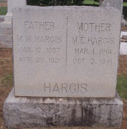 Mary Eugenia <I>Staples</I> Hargis